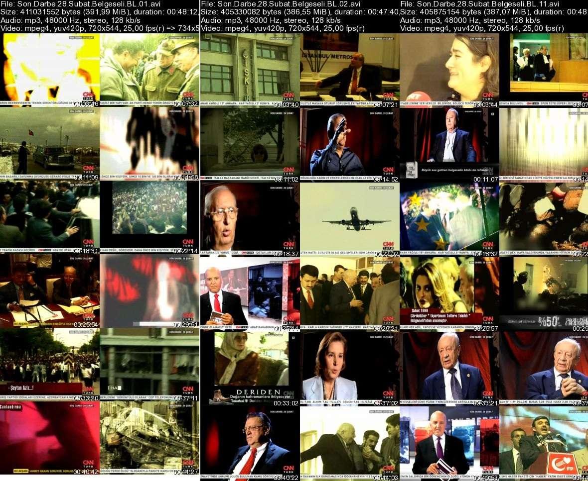 Son Darbe 28 Şubat Belgeseli 1-12 Bölümler DVBRip Tek Link